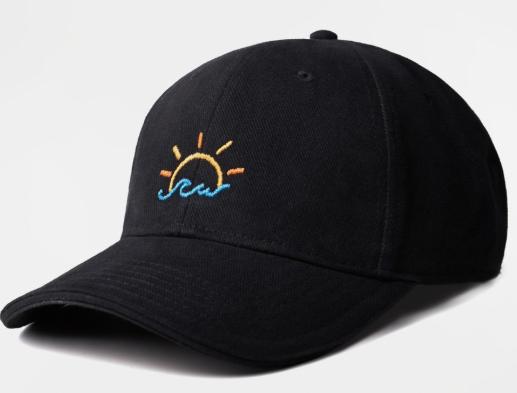 Кепка GARD чёрная BASEBALL CAP 1/19 Море