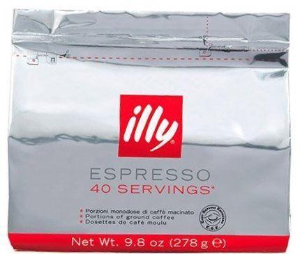 Кава в чалдах (монодозі) illy Espresso стрічка 40шт. E. S. E, для BLACK TOWER , Італія (середньої обжарювання)