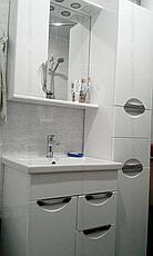 Пенал для ванной комнаты Альвеус 35-03 (Врезная Ручка) левый ПИК, фото 2