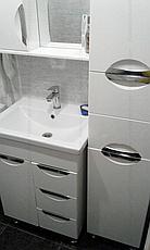 Пенал для ванной комнаты Альвеус 35-03 (Врезная Ручка) левый ПИК, фото 3