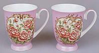 Кружка фарфоровая 350мл Корейская роза в подарочной коробке, 2 вида BonaDi 380-M34