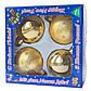 Набор елочных шаров d7*4шт, стекло, золото в звездочки с полосками (390335-28), фото 2