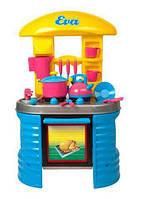 Кухня с посудой (голубая) KW-04-404