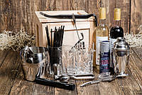 """Ящик 4MAN """"Бармен 2.0"""". Мужской подарочный набор. Набор бармена для коктейлей в подарок"""