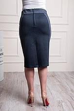 Женская трикотажная юбка серо-черного цвета пояс на резинке Эмилия, фото 3