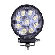 Фара дополнительная LED 27W (9x3W Epistar) круглая, 2200lm, 9-32V (Flood) 950-990310014