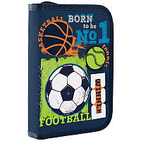 Пенал для школы твердый одинарный без клапана 1 Вересня HP-02 Football winner (532705)