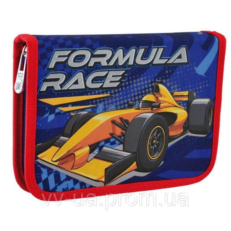 Пенал для школы твердый одинарный с клапаном Yes HP-03 Formula Race (532147)