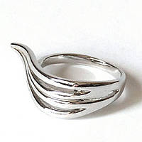 Кольцо Необычное, родиевое покрытие