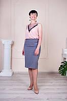 Юбка женская серого цвета 48-60 р-ры, фото 1