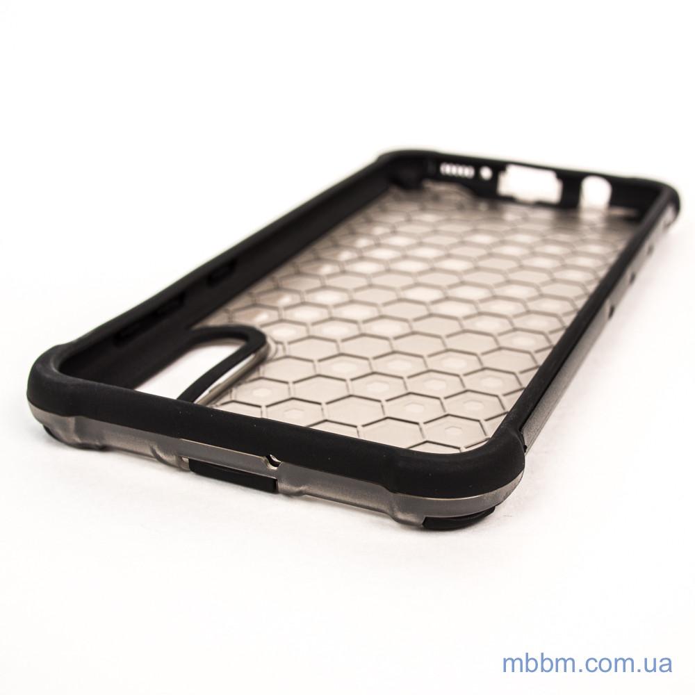 Ударопрочный чехол Honeycomb Samsung A30s A50s black Черный