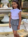 """Школьная юбка для девочки """"Баска"""",размеры:122,128.134.140., фото 4"""