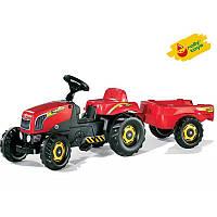 Трактор педальный с прицепом Rolly Toys rollyKid 2-5 лет (012121)
