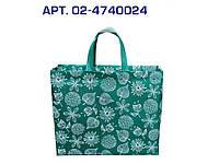 Еко сумка BOX (02) standart Ботаніка з замком, ручкою 385х320х120 ТМЕCOBAG