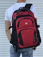 Рюкзак городской стильный качественный SwissGear, цвет черно-красный, фото 1