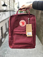 Рюкзак канкен Fjallraven Kanken classic bag bordo. Живое фото. Качество Топ! (Реплика ААА+)