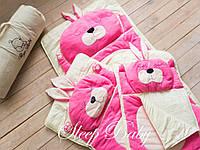 Детский комплект постельного белья Слипик зайка sleep baby, размер 120х60 см, фото 1