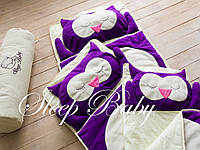 Детский комплект постельного белья Слипик сова sleep baby, размер 120х60 см