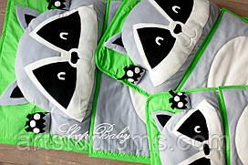 Детский комплект постельного белья Слипик енот sleep baby, размер 120х60 см