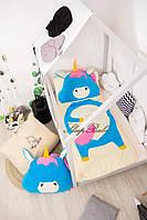 Детский комплект постельного белья Раздельный Слипик Единорог sleep baby, размер 120х60 см, фото 1