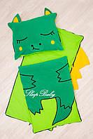 Детский комплект постельного белья Раздельный Слипик Дракон sleep baby, размер 120х60 см