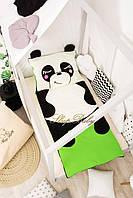 Детский комплект постельного белья Раздельный Слипик Панда sleep baby, размер 120х60 см