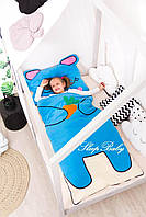 Детский комплект постельного белья Раздельный Слипик Зайченок sleep baby, размер 120х60 см