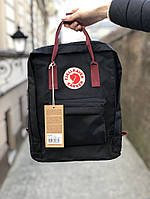 Рюкзак Канкен Fjallraven Kanken Classic Bag black red. Живое фото. Качество Топ! (Реплика ААА+), фото 1
