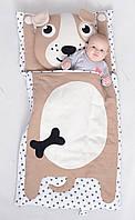 Комплект детского постельного белья слипик Щенок, размер S, 120х60 см, для деток до 2-2,5 лет
