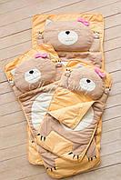 Детский комплект постельного белья Слипик котик sleep baby, размер 170х70 см