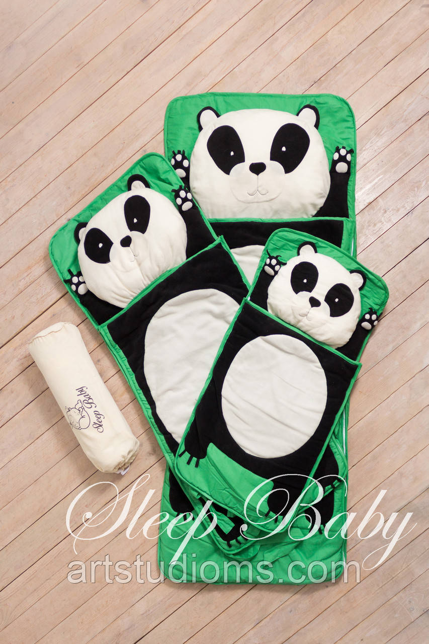 Детский комплект постельного белья Слипик панда sleep baby, размер 170х70 см