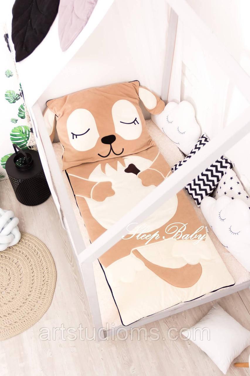 Детский комплект постельного белья Раздельный Слипик Щенок sleep baby, размер 170х70 см