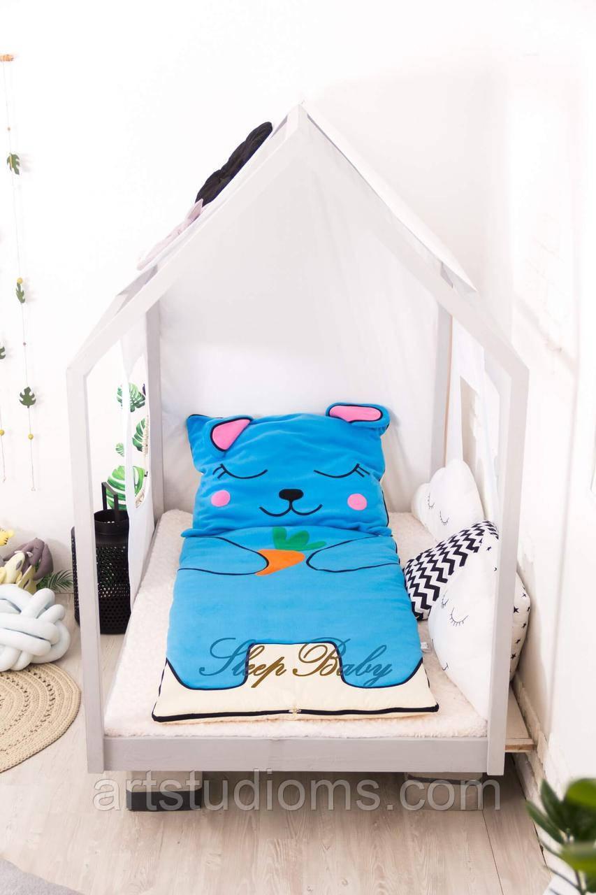 Детский комплект постельного белья Раздельный Слипик Зайченок sleep baby, размер 170х70 см