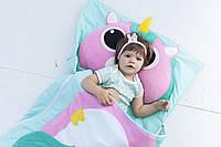 Комплект детского постельного белья слипик Единорожка, размер L, 170х70 см, для деток до 8 лет , фото 1