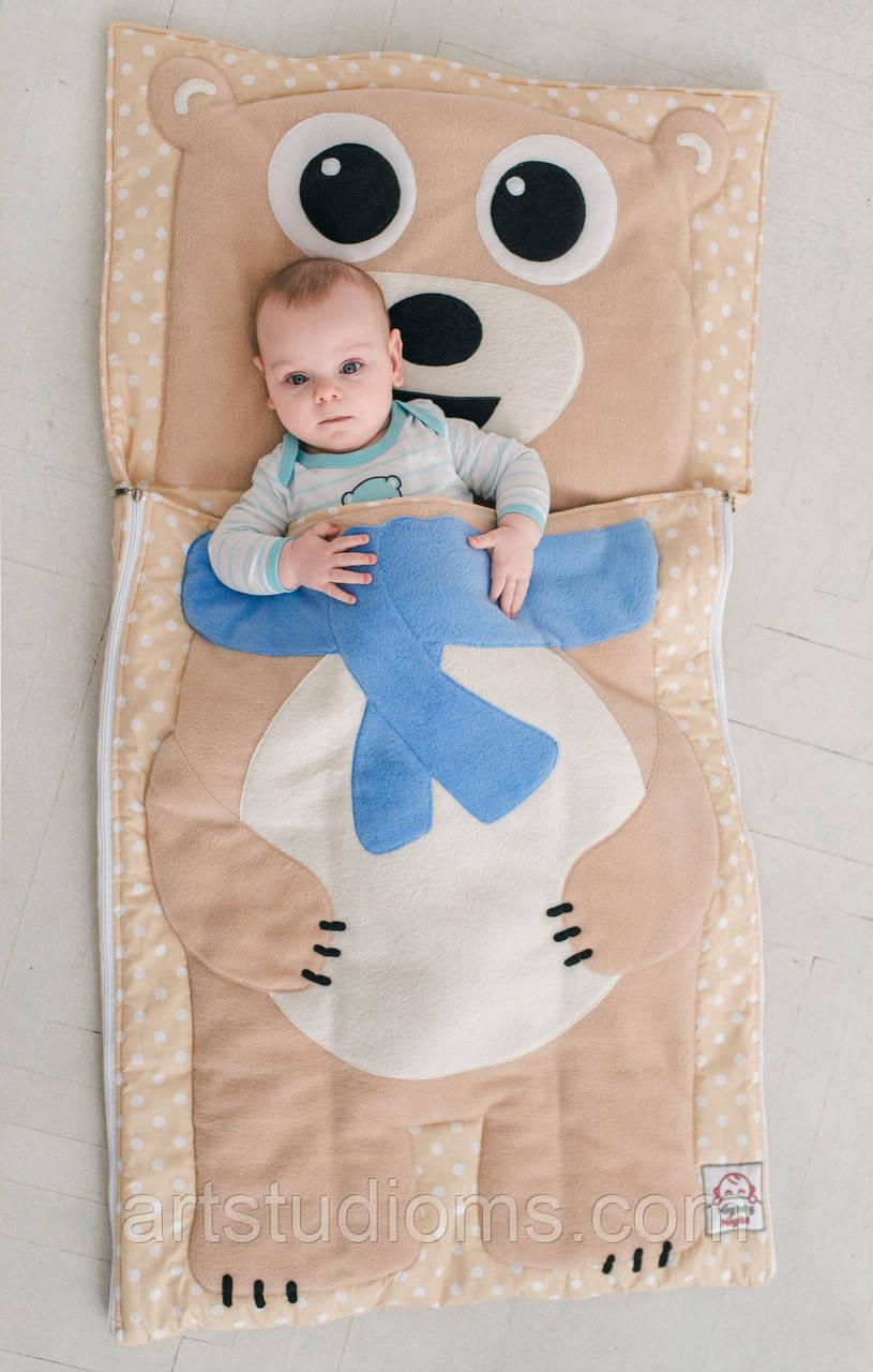 Комплект детского постельного белья слипик Мишка, размер L, 170х70 см, для деток до 8 лет