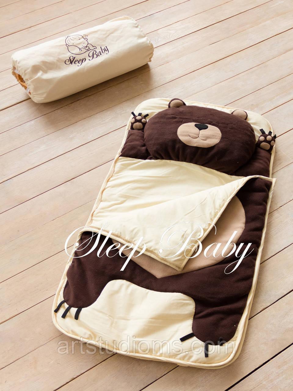 Детский комплект постельного белья Слипик Мишка sleep baby, размер 200х90 см