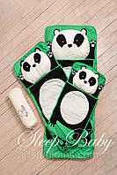 Дитячий комплект постільної білизни Слипик панда baby sleep, розмір 200х90 см