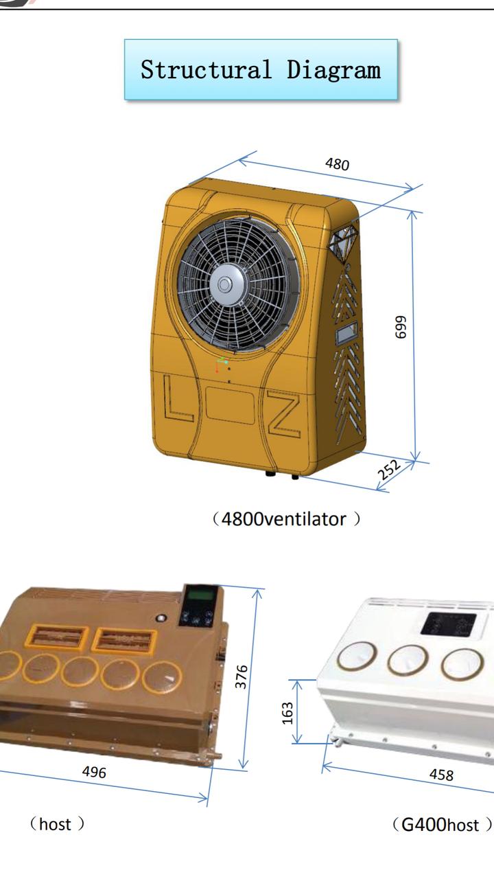 Кондиционер электрический 24в накрышный, фото 1