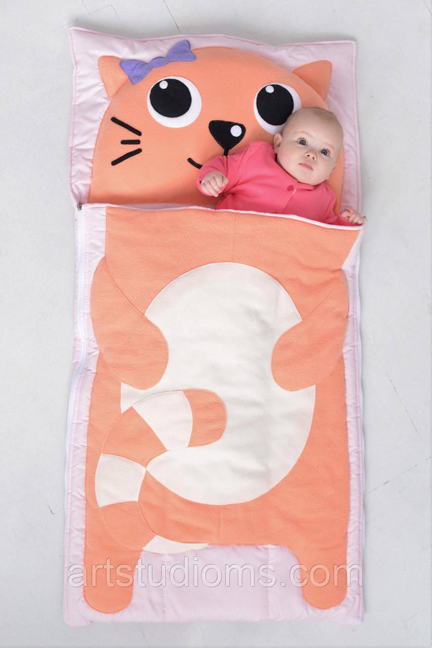 Комплект детского постельного белья слипик Котик, размер XL, 200х90 см, для деток до 14 лет