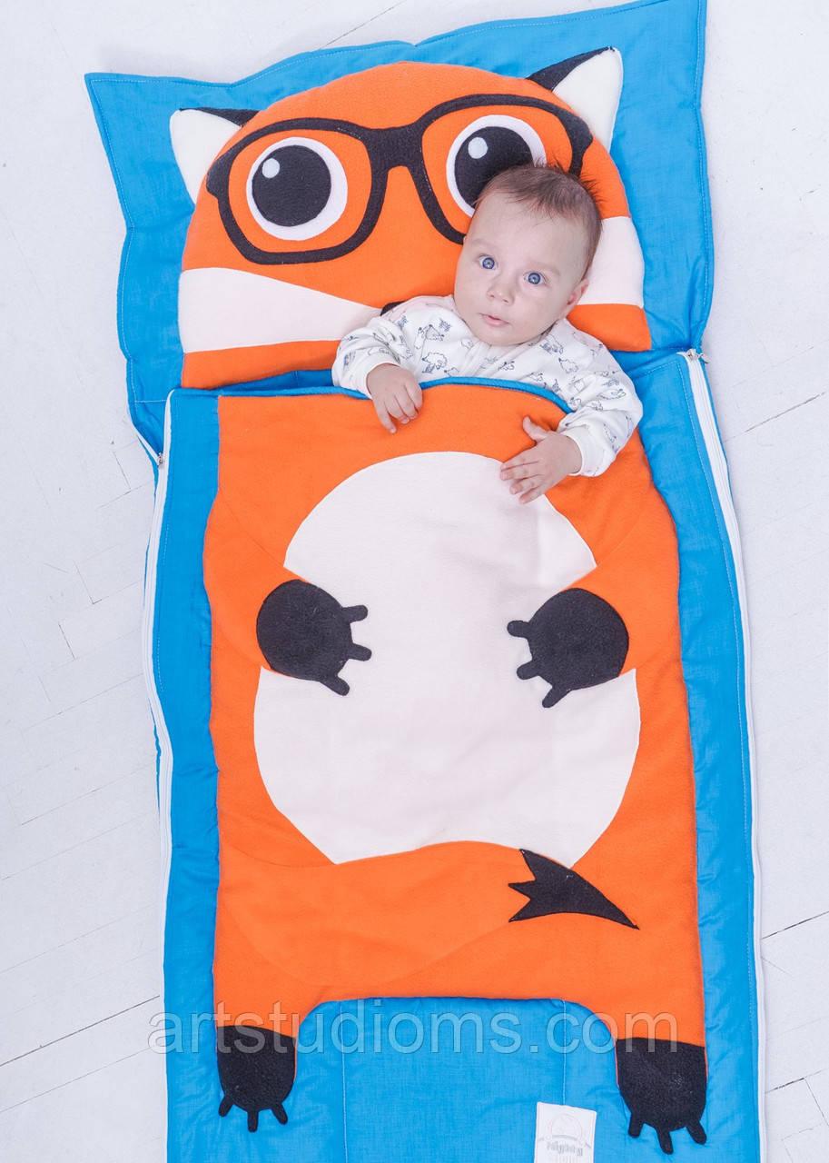 Комплект детского постельного белья слипик Лисенок, размер XL, 200х90 см, для деток до 14 лет