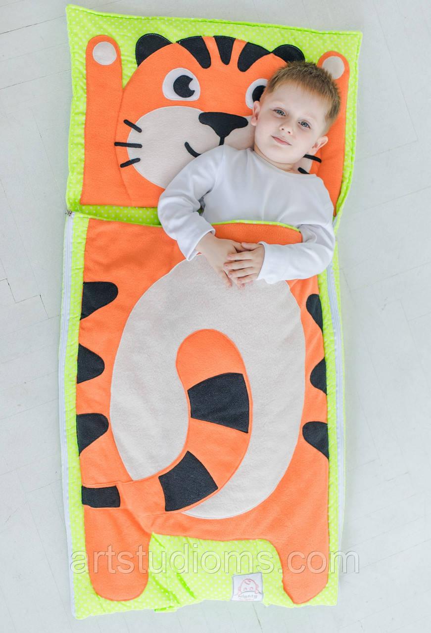 Комплект дитячої постільної білизни слипик Тигреня, розмір XL, 200х90 см, для дітей до 14 років