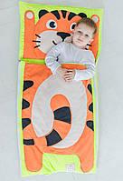 Комплект дитячої постільної білизни слипик Тигреня, розмір XL, 200х90 см, для дітей до 14 років, фото 1