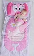 Комплект детского постельного белья слипик Розовый Зайка, размер M, 140х70 см, для деток до 4 лет, фото 1