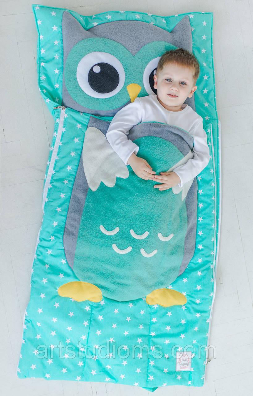 Комплект детского постельного белья слипик Совенок, размер M, 140х70 см, для деток до 4 лет