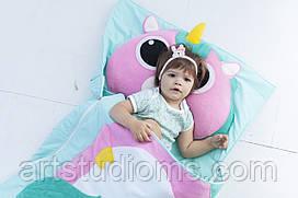 Комплект детского постельного белья слипик Единорожка, размер XXL, 220х90 см, для деток от 14 лет