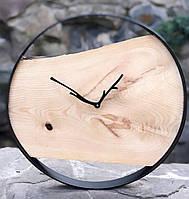 Часы в металлическом ободке