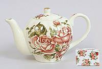 Чайник фарфоровый 1л Корейская роза BonaDi XX845