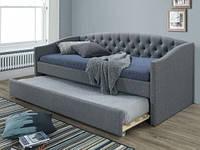 Дворівневе ліжко-диван з мякою оббивкою Alessia 90 szary Signal