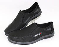 Чёрные мужские туфли на резинке