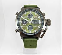 Часы военные водонепроницаемые 10 ATM AMST 3003 (Кварц) Green/Black/Green. ОРИГИНАЛ 100% МОЖНО ПЛАВАТЬ!